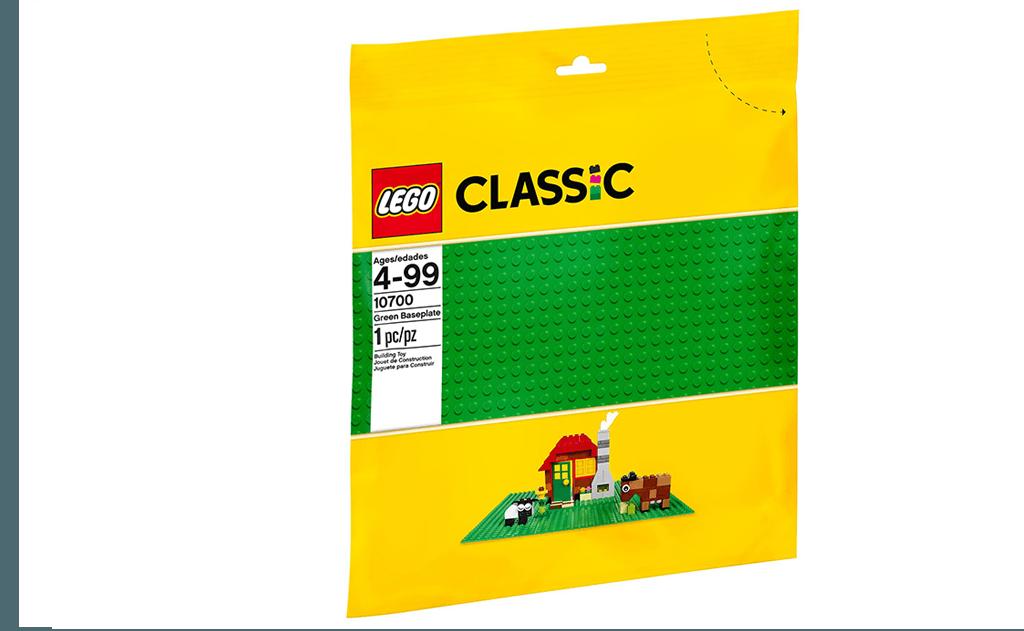 Для побудови зелених парків, лісів, квітучого саду, сільській місцевості або просто заміської території вам просто необхідна ігрова основа з серії LEGO Classic.