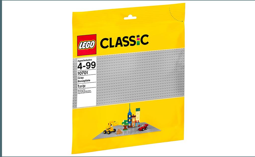 Сіра ігрова пластина LEGO 10701 Classic значна своїми розмірами.