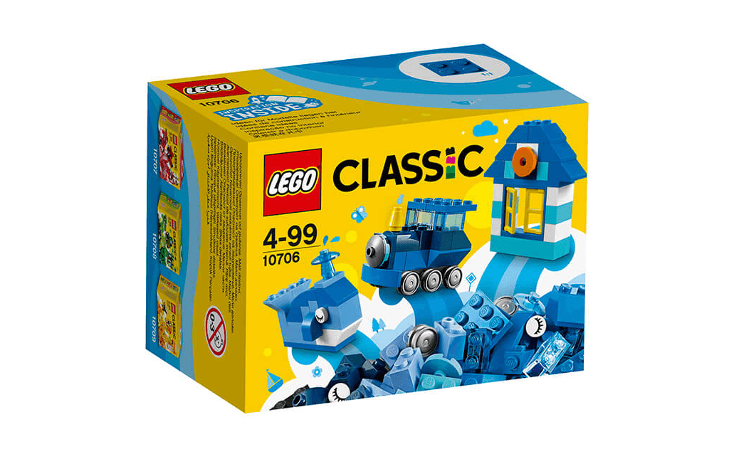 Невеликий набір LEGO 10706 Classic складається з 78 деталей. Це відмінне рішення для тих лего-фанатів, які не мають в своєму арсеналі достатньо деталей синього і блакитного кольорів для своїх саморобок.