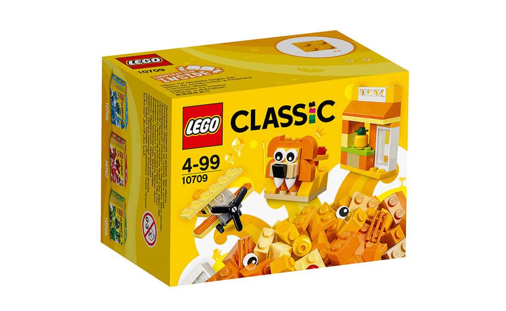 Весела коробочка набору ЛЕГО 10709 Класик містить в собі цілих 60 деталей яскравих