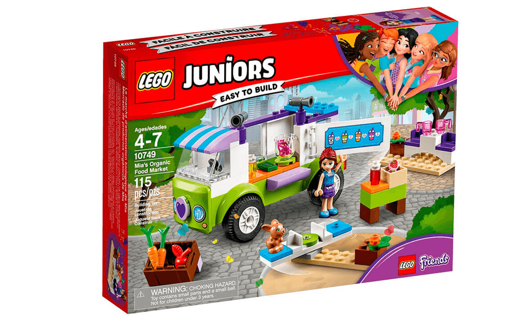 Весела і заповзятлива Мія з набору LEGO 10749 Friends з радістю допоможе вам підібрати найсмачніші і свіжі натуральні овочі до столу!