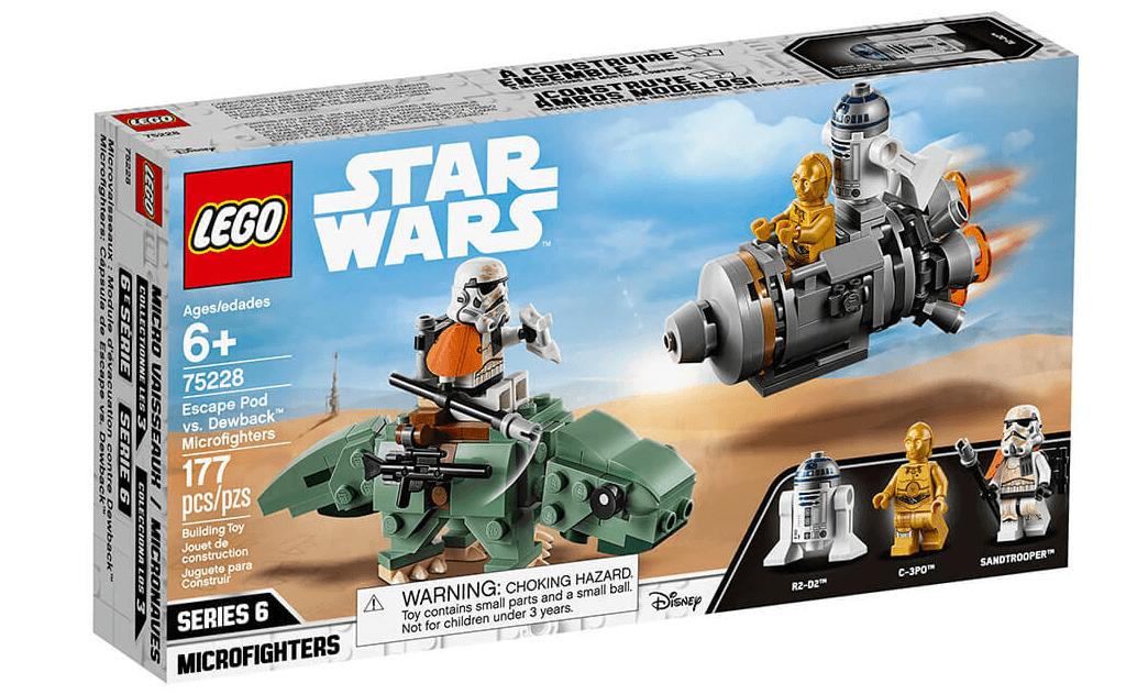 Грандіозне пригода для фанатів Зоряних воєн в LEGO 75228 «Рятувальна капсула проти мінібойца на дьюбеке»!