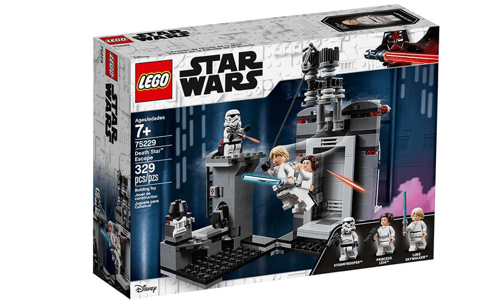 Поринь в незабутнє космічна пригода з чудовим набором LEGO 75229 «Втеча з Зірки смерті». Відтворіть епічну сцену з Зоряних Воєн за участю Люка Скайуокера і принцеси Леї!