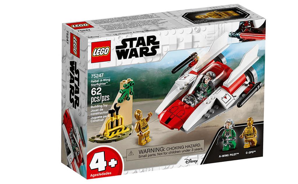 Збирай зоряний винищувач типу А в LEGO 75247 «Зоряний винищувач» оснащений обертовими бластерами і кабіною для пілота.