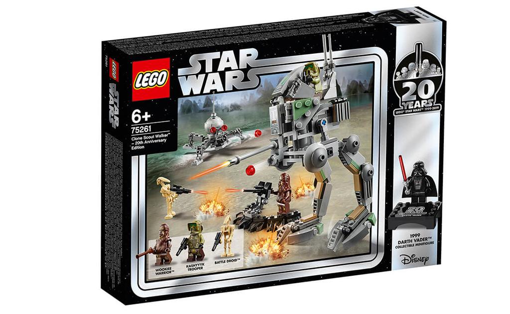 Відсвяткуйте двадцятирічний ювілей серії LEGO Star Wars з конструктором 75261 «шагоходи-розвідник клонів: випуск до 20-річного ювілею»!