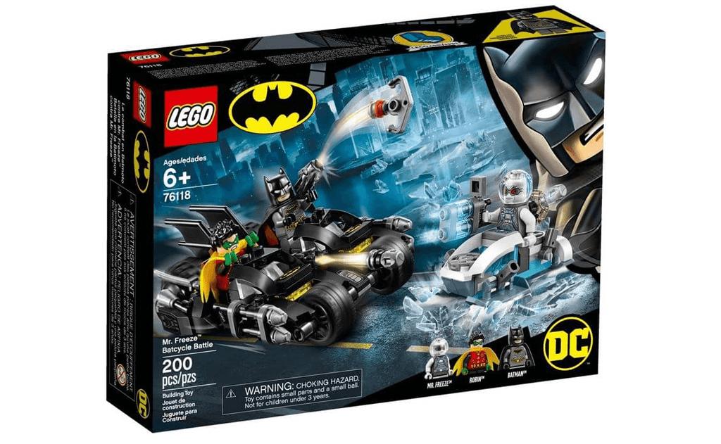 Діти можуть створювати свої власні захоплюючі пригоди, разом з Бетменом і Робіном, і зробити ставку на порятунок ґотем від містера Фріза в LEGO DC Batman 76118