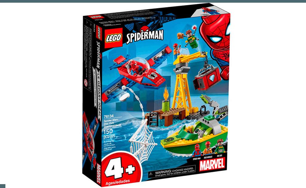 Доктор Восьминіг зібрався викрасти діаманти. Не дай йому цього зробити разом з Людиною-павуком в LEGO 76134 «Людина-Павук: викрадення діамантів Доктором восьминога».