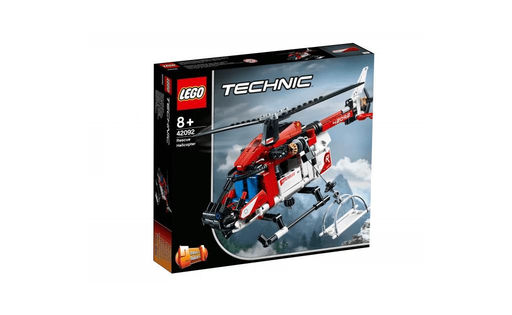 Бери участь в героїчних місіях на рятувальних вертольоті LEGO® Technic.
