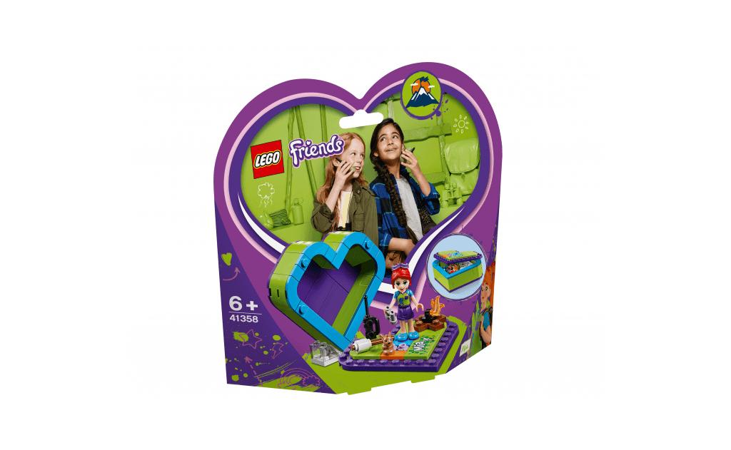 Куди б ти не прямувала, бери Мію LEGO® Friends в шкатулку-сердечку з собою! Побудуй шкатулку у формі серця і розмісти Мію - одну з подружок LEGO® Friends - всередині, щоб можна було взяти її з собою в будь-яку подорож!