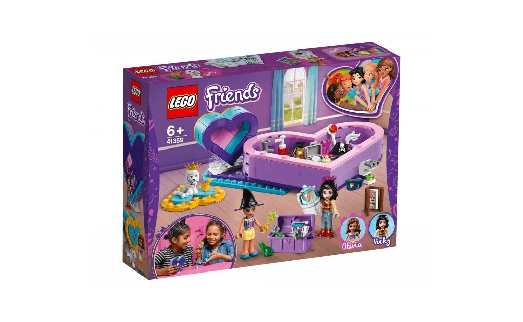 Придумуй і розігрувати на ходу сценки з життя двох подружок LEGO® Friends - Олівії і Вікі - з двох скриньок-сердечок.