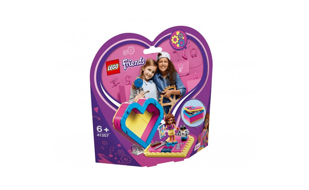 Куди б ти не прямувала, бери Олівію LEGO® Friends в шкатулку-сердечку з собою!