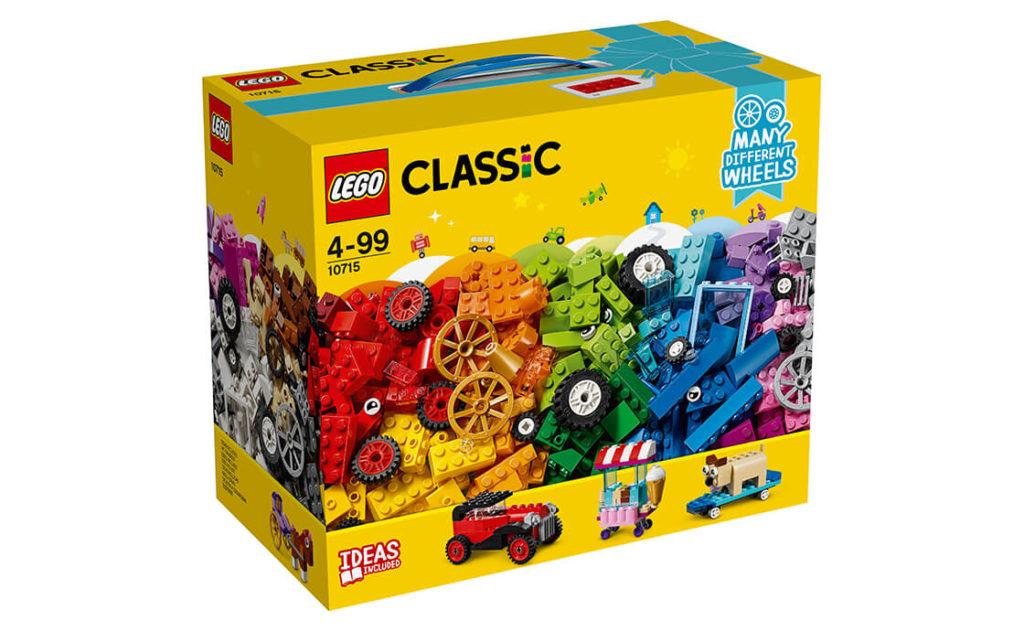 Складай різноманітні засоби пересування, починаючи від крісла на колесах і закінчуючи кінною упряжкою, завдяки цьому спеціальному набору серії LEGO® Classic,