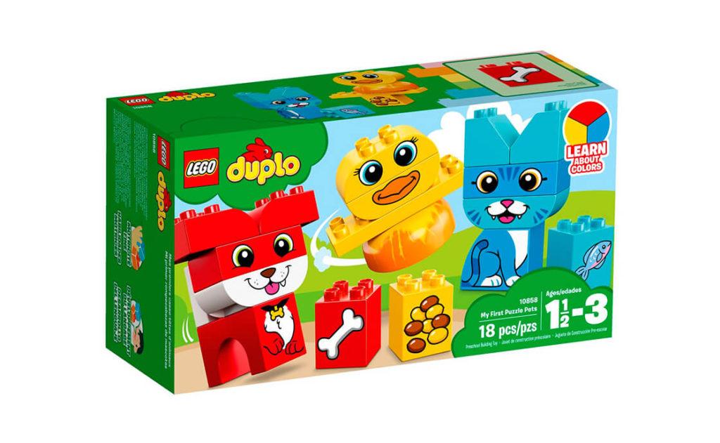 Допоможіть своїй дитині створити різнокольорових тривимірних тварин із великих кубиків LEGO® DUPLO®.