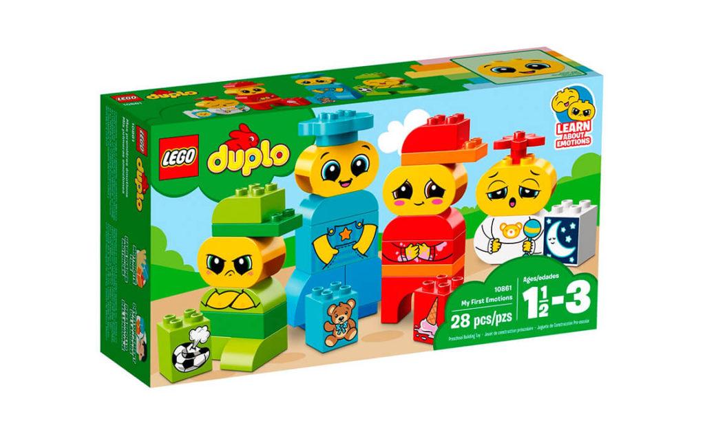 Навчайте свого малюка розпізнавати й розуміти різні емоції за допомогою кольорових фігурок із великих кубиків LEGO® DUPLO®, що спеціально розроблені для веселої та безпечної гри.