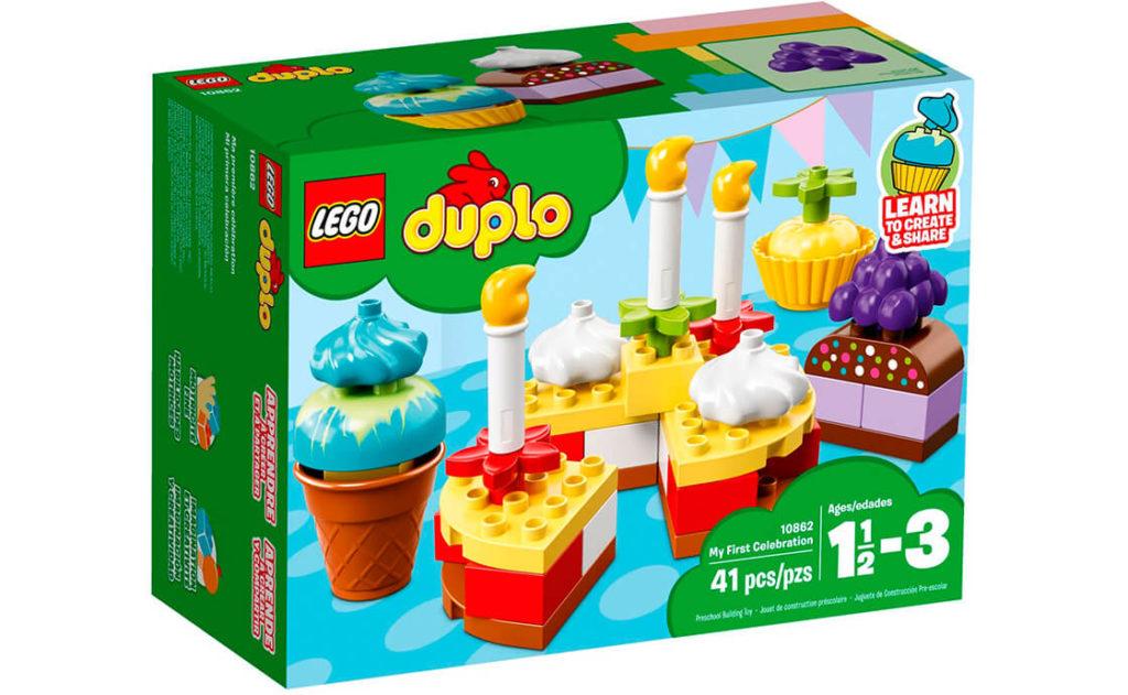 Створюйте кольорові тортики для різних свят із набором «Моє перше свято» LEGO® DUPLO®.
