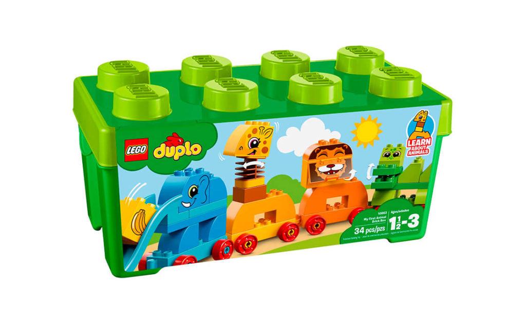 Малюкам сподобається будувати свій власний потяг тваринок із набору кубиків «Моя перша тварина»!