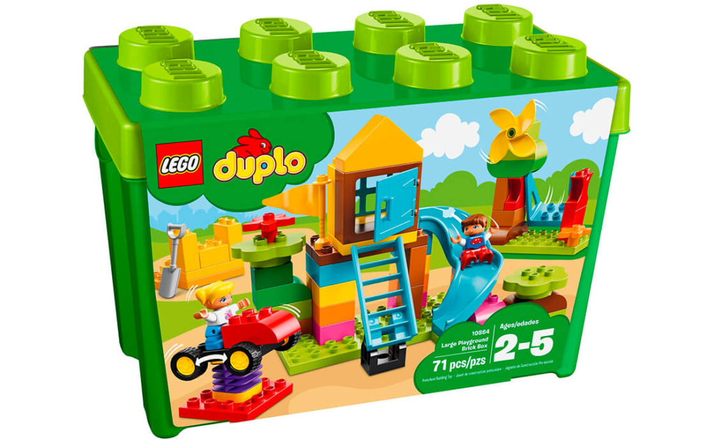 Коробка з кубиками «Великий ігровий майданчик» LEGO® DUPLO® розпалить фантазію вашого малюка.