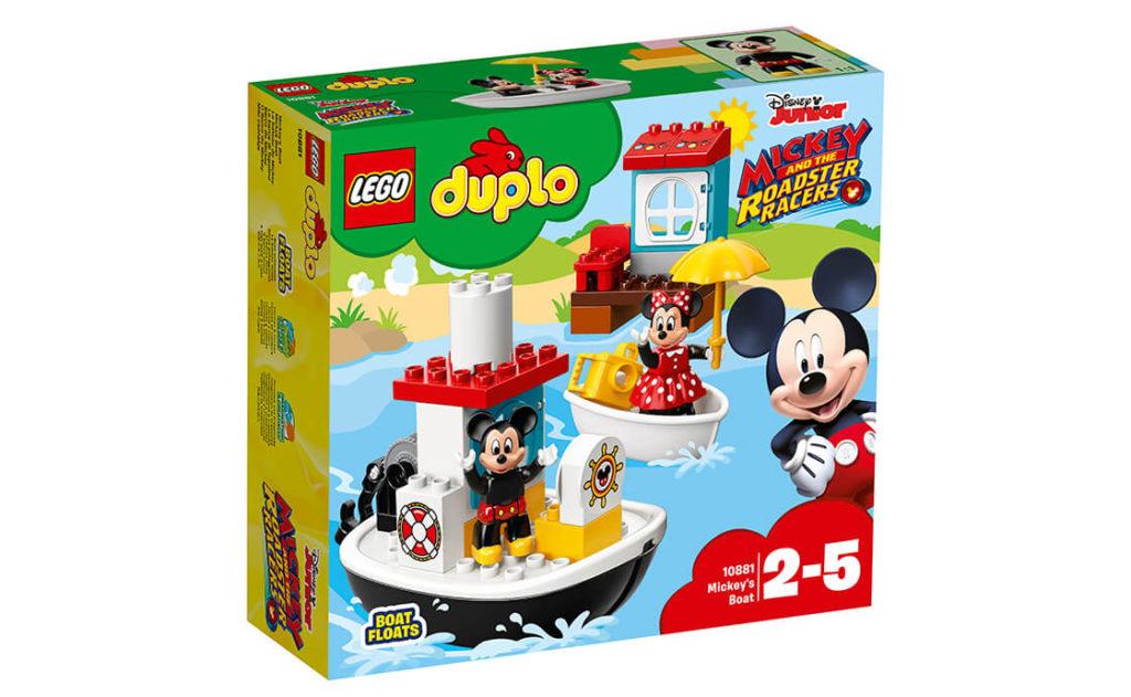 Маленьким шанувальникам діснеївських мультфільмів сподобається разом із набором LEGO® DUPLO® 10881 запускати з пірса човен Мікі, вирушаючи на дивовижну водну прогулянку.