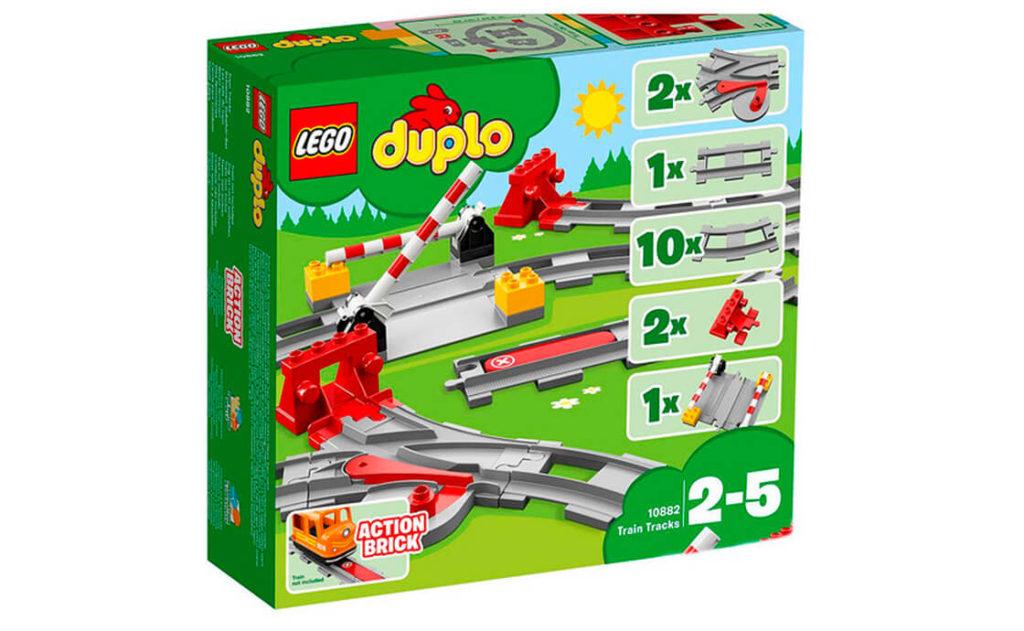 Набір «Залізничні рейки» серії LEGO® DUPLO® (10882) відкриє для вашого малюка безмежні можливості, він поєднується з будь-яким залізничним набором DUPLO® і допомагає скласти вражаючу колію.