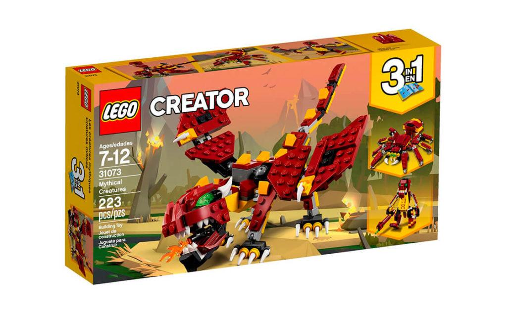 Поринь у міфічні пригоди разом із чудовим набором 3-в-1 серії LEGO® Creator. Склади жахливого червоно-жовтого дракона, що гарчить і дихає вогнем, зі страхітливими зеленими очима та величезними гострими кігтями.