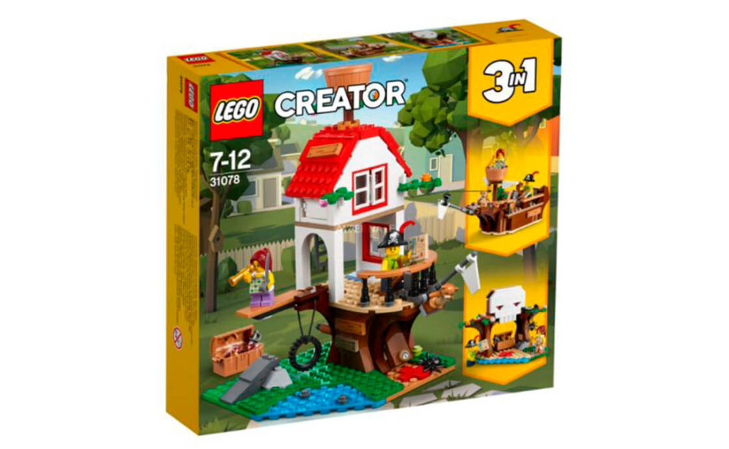 Пірати не зупиняються! Розважайтеся досхочу із цим набором 3в1 «Скарби в будиночку на дереві» серії LEGO® Creator (31078)! Швидше на борт, міцно тримай штурвал – і вперед у відкрите море!