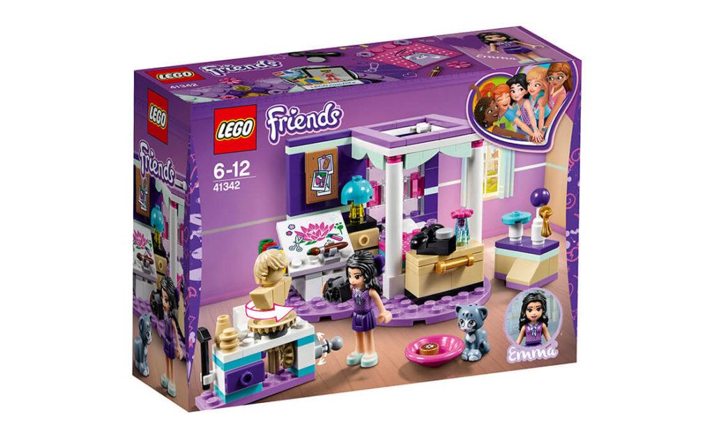 Розкрий свої таланти з набором «Спальня-люкс Емми» серії LEGO® Friends (41342).