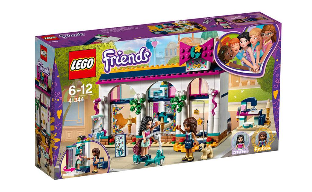 Знайди свій новий стиль із набором «Крамничка аксесуарів Андреа» серії LEGO® Friends (41344).