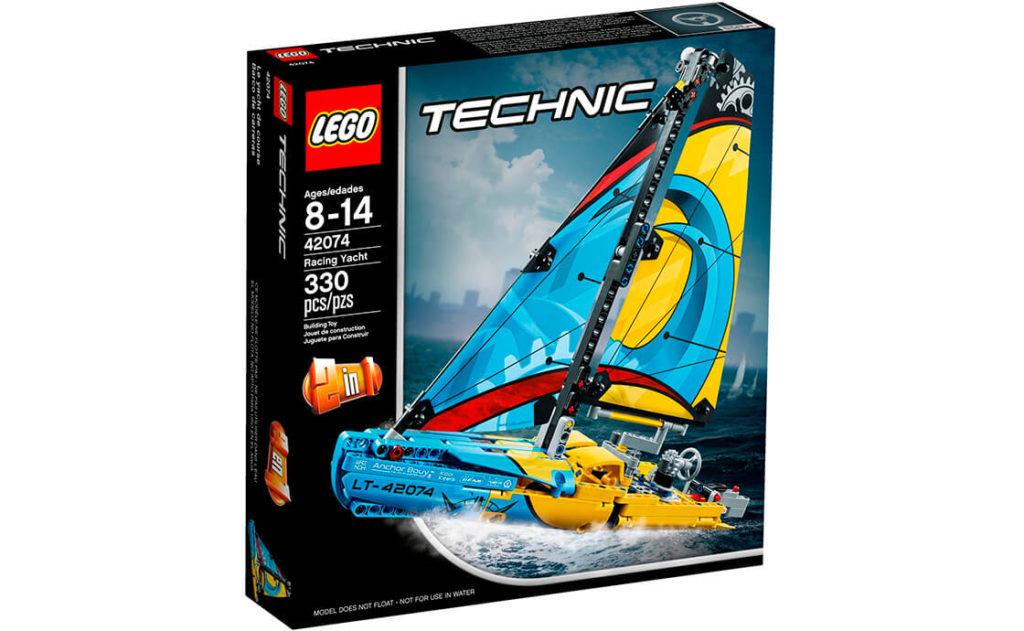 Перетни фінішну пряму першим на неймовірній гоночній яхті. Ця реалістична деталізована модель LEGO® Technic 2-в-1 виконана в спортивних жовто-синіх кольорах, має яскраві вітрила, розмальовані прямими та вигнутими лініями, а також деталізований корпус.