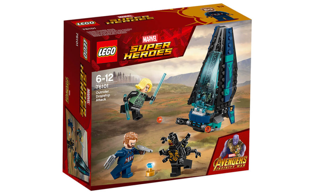 Об'єднайся з Капітаном Америкою та Чорною вдовою, щоб захистити Ваканду від захоплення із вражаючим набором «Десантний корабель вершників» серії LEGO® Marvel Super Heroes (76101)!