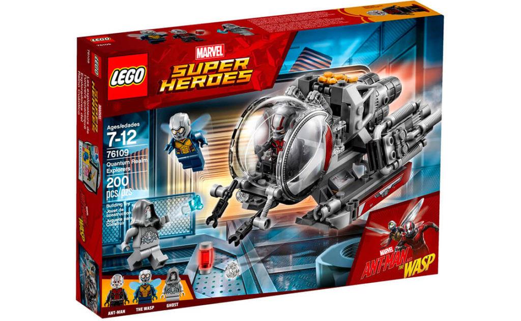 Приєднуйся до героїв із набору «Дослідники квантового виміру» серії LEGO® Marvel Super Heroes (76109)! Керуй Квантовою машиною разом із Людиною-Мурахою та об'єднайся з Осою, щоб перемогти Привида!